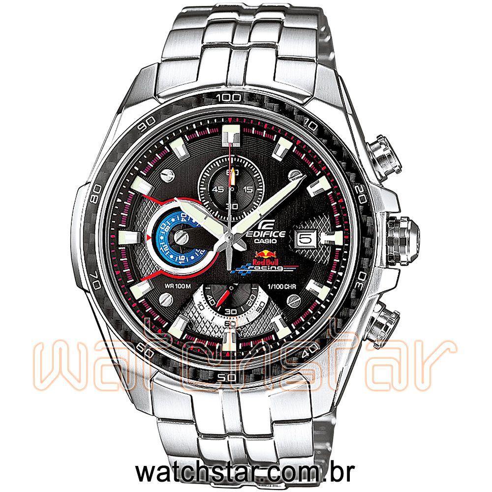 4a09070b043 Relógio Casio Edifice Ef 565rb 1avdr Edição Limitada Red Bull
