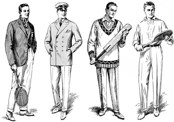 Classy illustration depicts the various options for a man