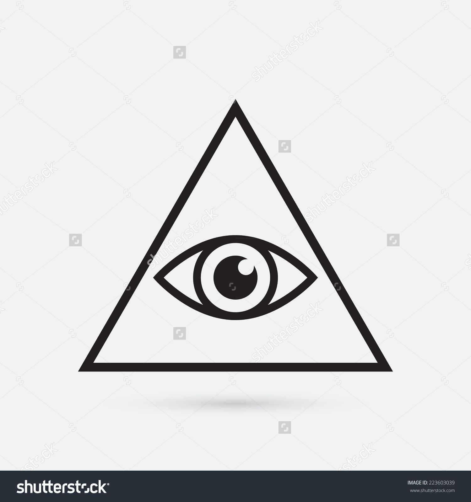 36bf4fde3896 Eye Symbol, All Seeing Eye, Easy Drawings, Illustration, Illuminati Tattoo,  Triangle