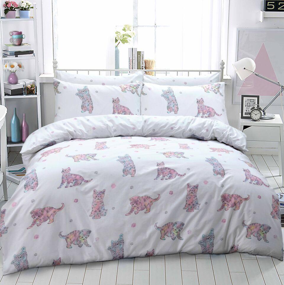 Cat Kitten Printed Duvet Quilt Bedding Set Multi Linens Range Quilt Sets Bedding Comforter Sets Duvet Cover Sets