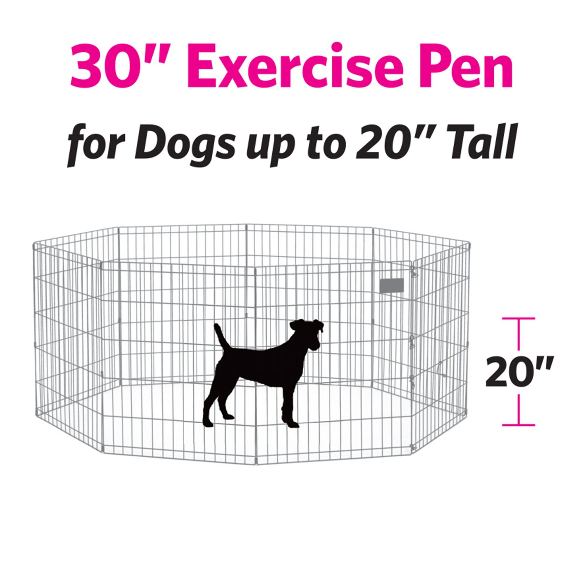 Midwest Black E Coat Exercise Pen W Door For Dogs 30 H