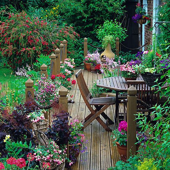 small deck - lots of color
