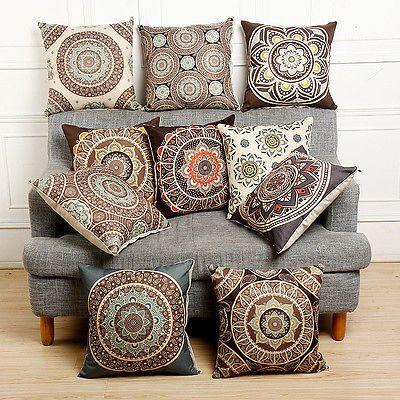details about vintage cotton linen cushion cover waist throw pillow rh pinterest com