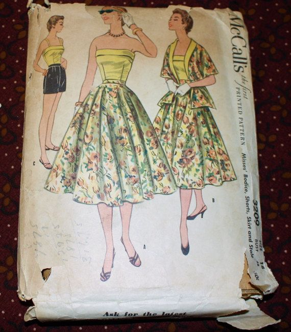 1950's Original VIntage Sewing Pattern Dress by SewDecadesAgo