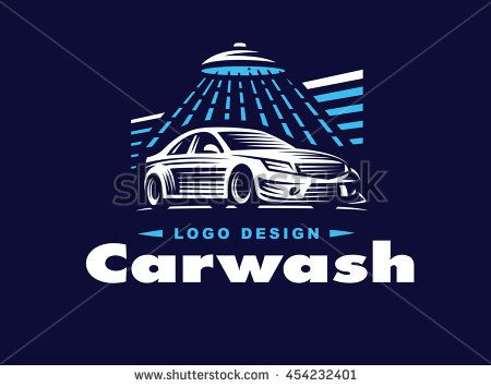 logo car wash on dark background logo car wash cars logos rh pinterest com