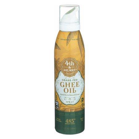 4th Heart Oil Ghee Spray5Oz (Pack Of 6)   Grass fed ghee ...