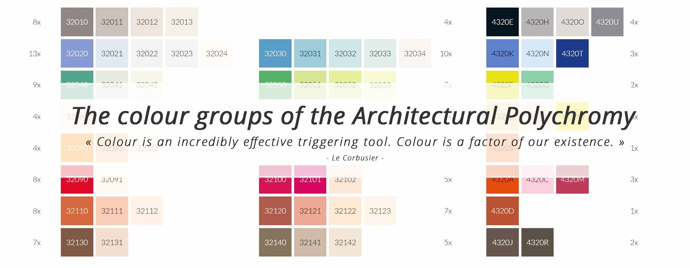 More Information About The Color Groups Of The Architectural