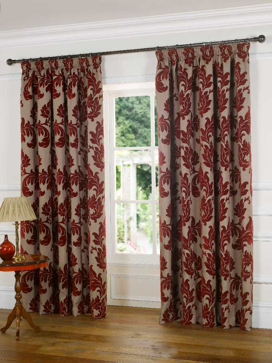 Red Patterned Curtains Patterned Curtains Beiges Browns