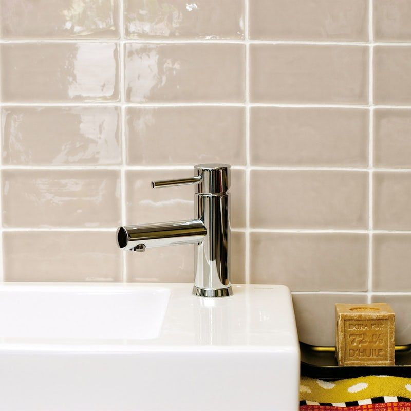 Annecy Mink Gloss Wall Tile 75mm X 150mm Wall Tiles Tiles