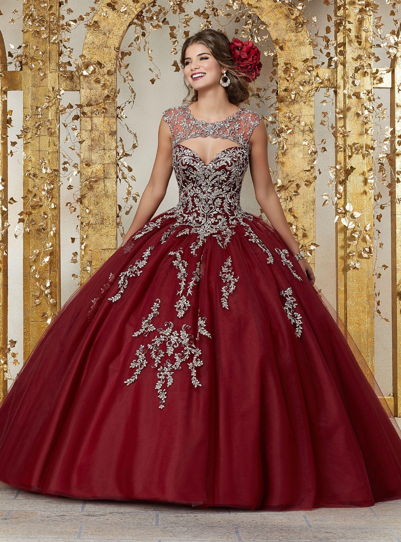 4cc04964013 Beaded Cap Sleeve Quinceanera Dress by Mori Lee Vizcaya 89225