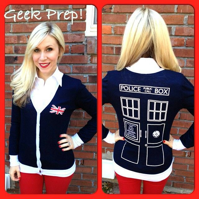 Doctor Who TARDIS cardigan ~ coming soon to her universe!