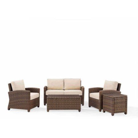 crosley furniture bradenton 5 piece outdoor wicker conversation set rh pinterest com