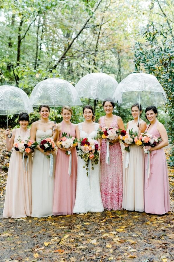 fall bridal party pictures%0A Rustic   Rainy Southern Fall Wedding