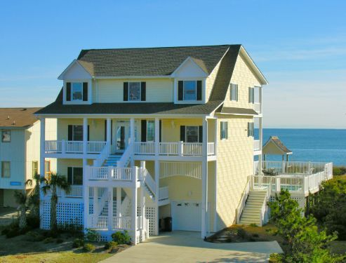 blue lagoon a 7 bedroom oceanfront rental house in emerald isle rh pinterest com
