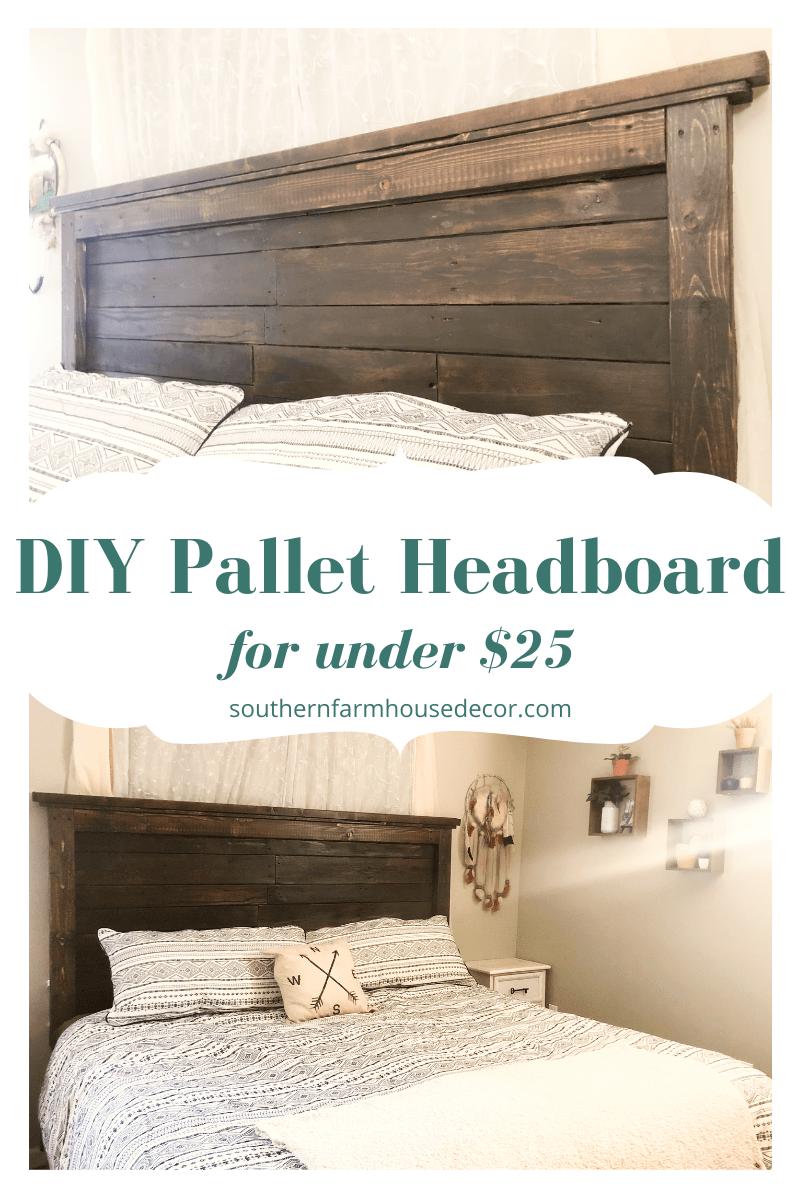 DIY Wood Pallet Headboard » Southern Farmhouse Decor -   19 diy Headboard king ideas