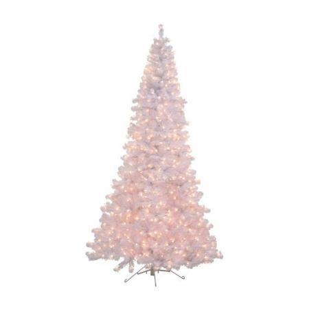 white half corner pre lit half christmas tree walmartcom - Walmart White Christmas Tree