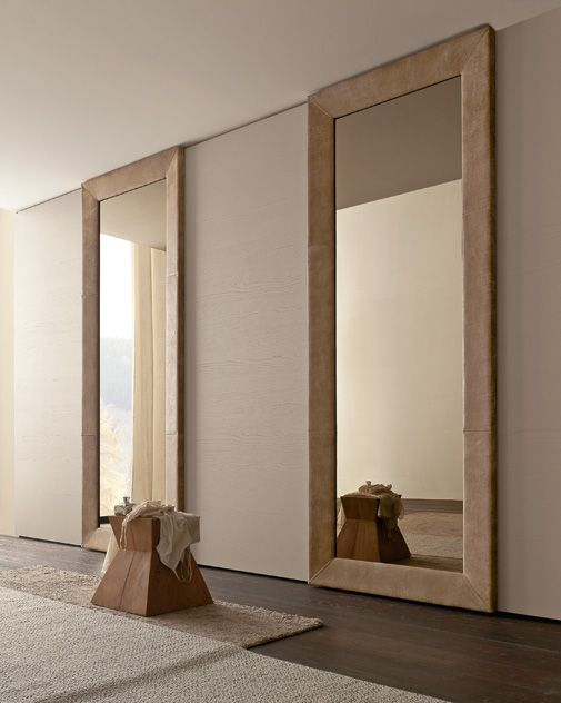 presotto wardrobe with liscia sliding doors in corda color wood and mirror door with bronze. Black Bedroom Furniture Sets. Home Design Ideas