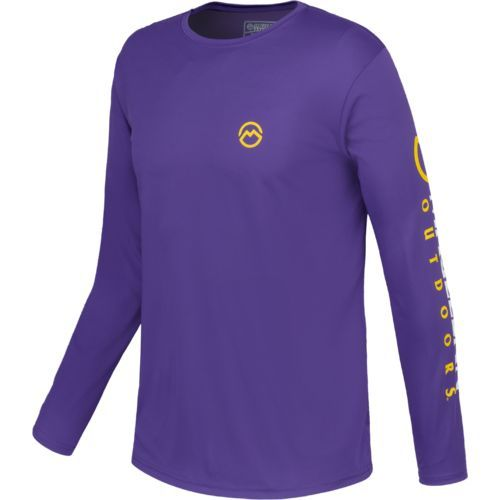 8c14ce8fd90c Magellan Outdoors Men s Casting Crew Moisture Management Long Sleeve T-shirt  (Parachute Purple
