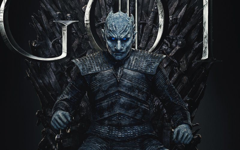 desktop wallpaper night king game of thrones season 8 finale rh pinterest com