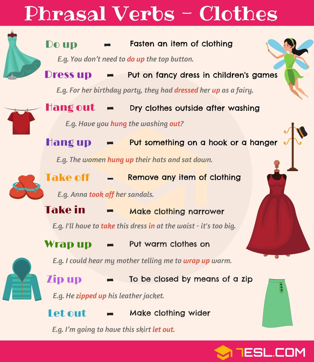 Phrasal Verbs Clothes