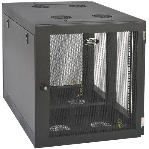 Tripp Lite Smartrack 12u Wall Mount Rack Enclosure Cabinet Side Mount Rack Black 12u 19 Inch Wall Mount Rack Server Rack Tripp Lite