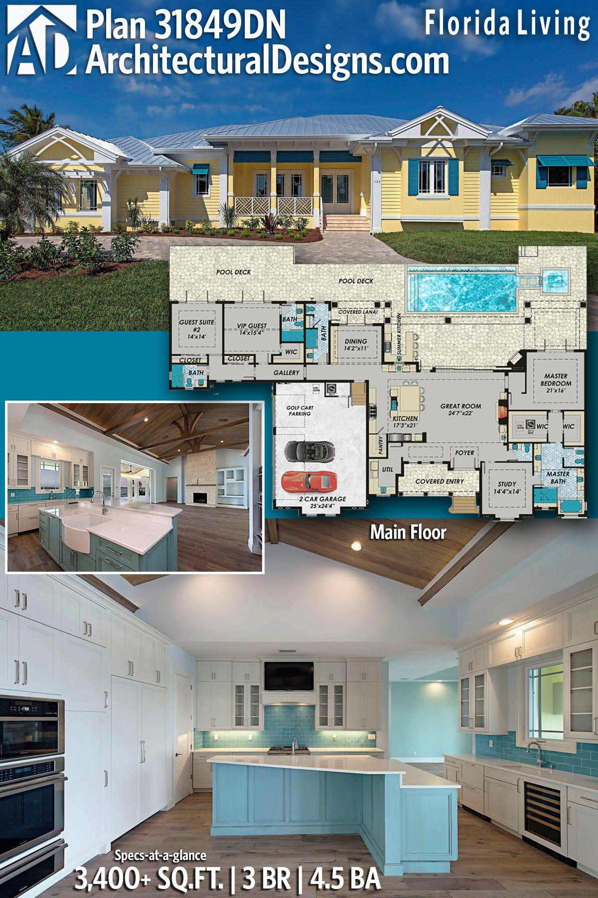 plan 31849dn florida living in 2018 architectural designs rh pinterest com