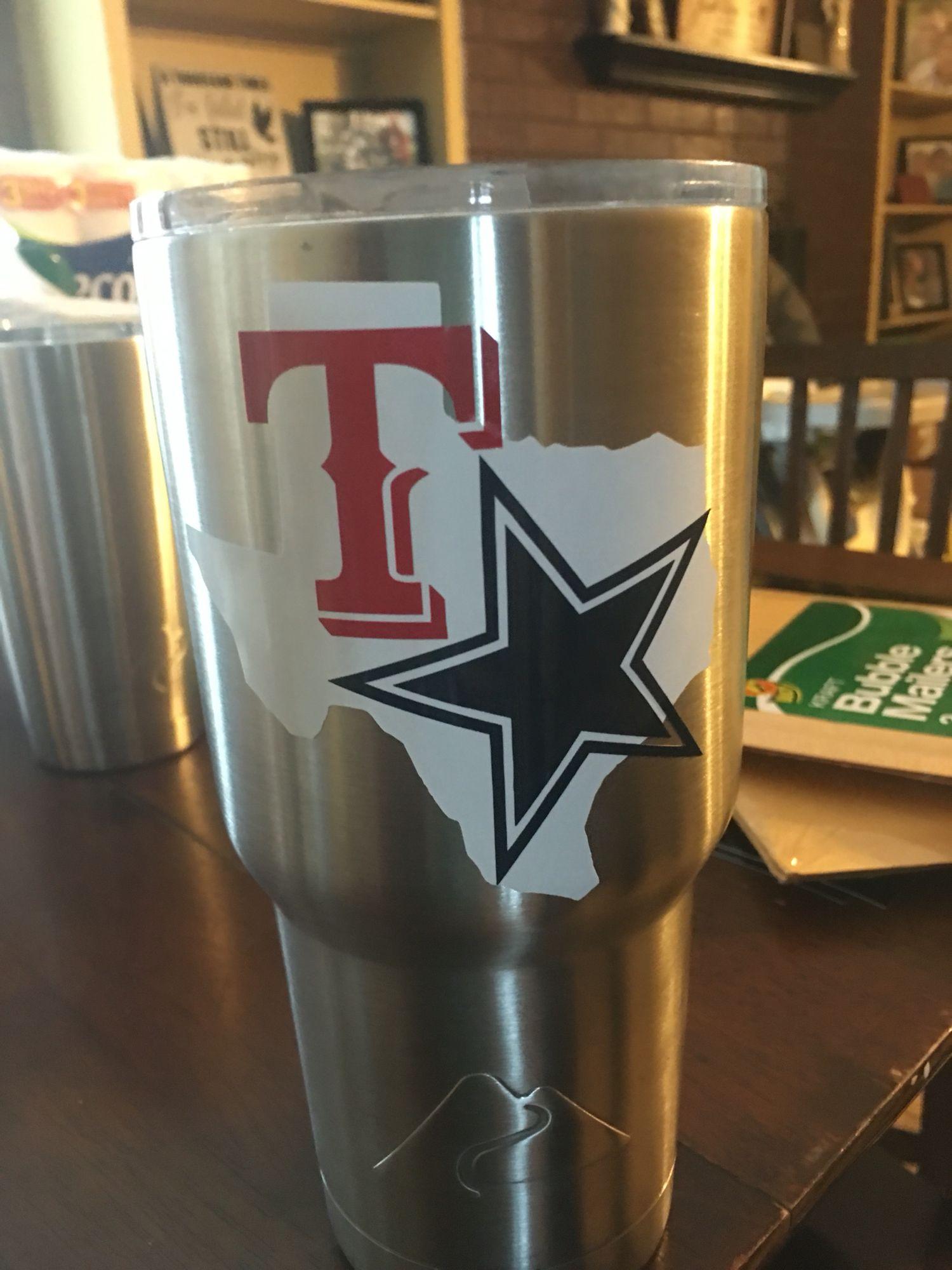texas rangers dallas cowboys decals by me texas rangers shirts rh pinterest com
