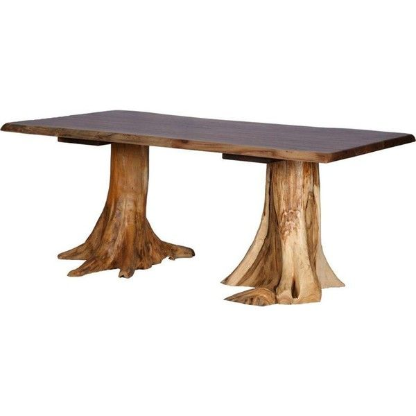 amish rustic double stump table with walnut top 3 107 160 krw rh pinterest co uk