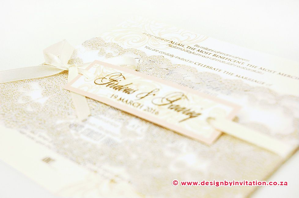 tie the knot wedding invitations etsy%0A Wedding Invitation with Lace    www designbyinvitation co za