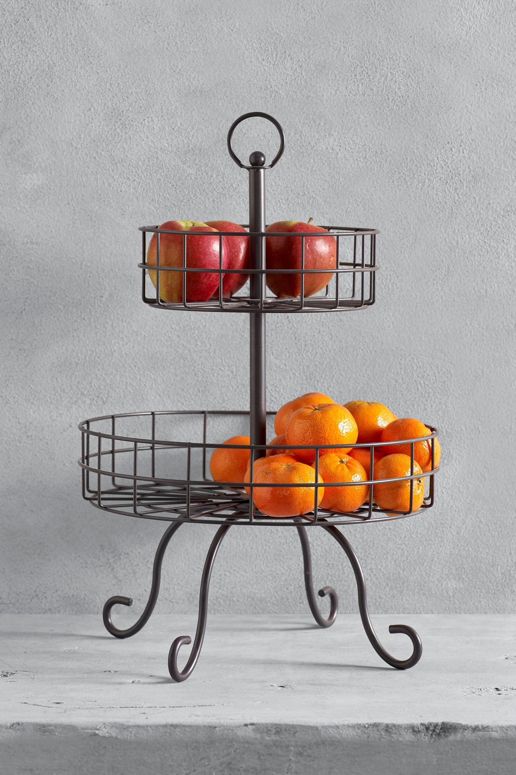 Wire Fruit Bowls Two Tier Wire Fruit Bowl Next Home May 18 L Art Culinaire