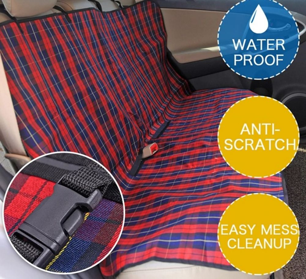 Dog's Plaid Pattern Car Seat Cover  Price: 15.98 & FREE Shipping  #doglover #catlover