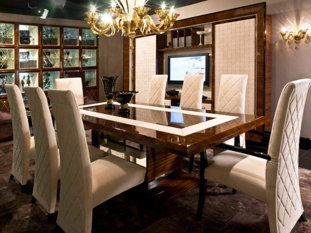 Dining Room Stunning Gold Framed Chandelier For