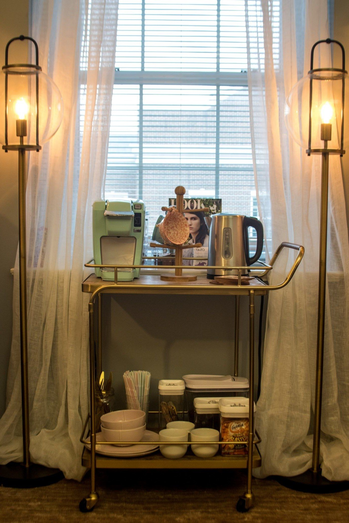 this dorm room features a coffee bar and tbh i m moving in dorm rh pinterest com