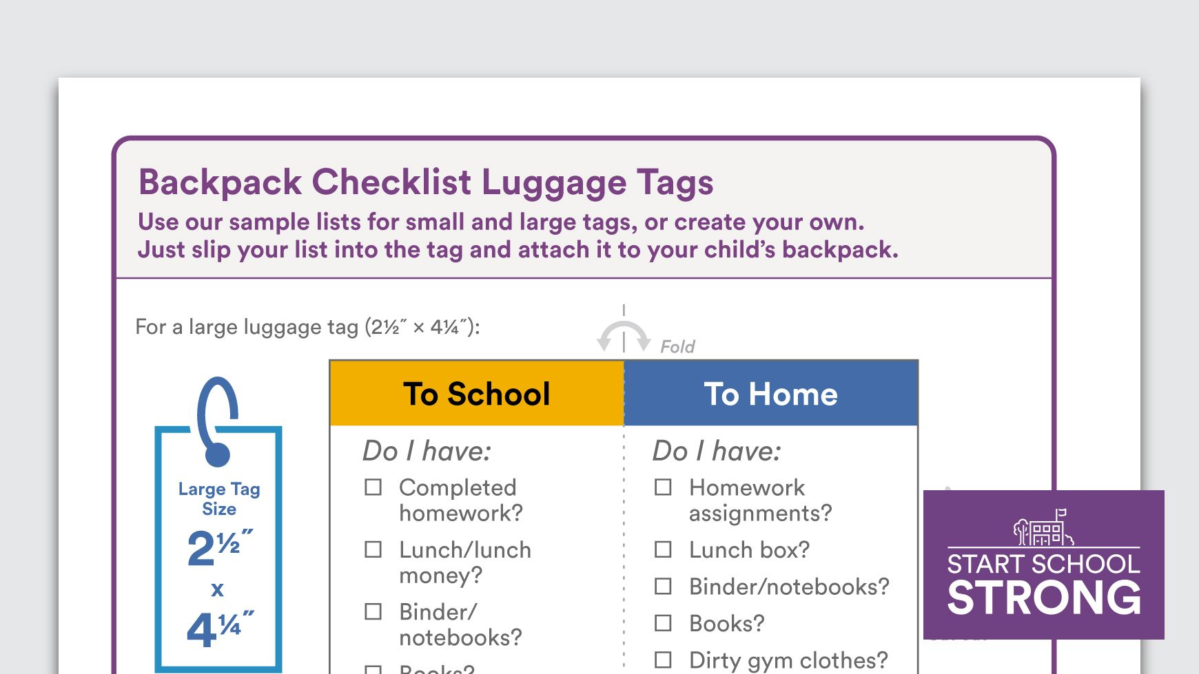 Download Backpack Checklist  Learn Learned Homework And School