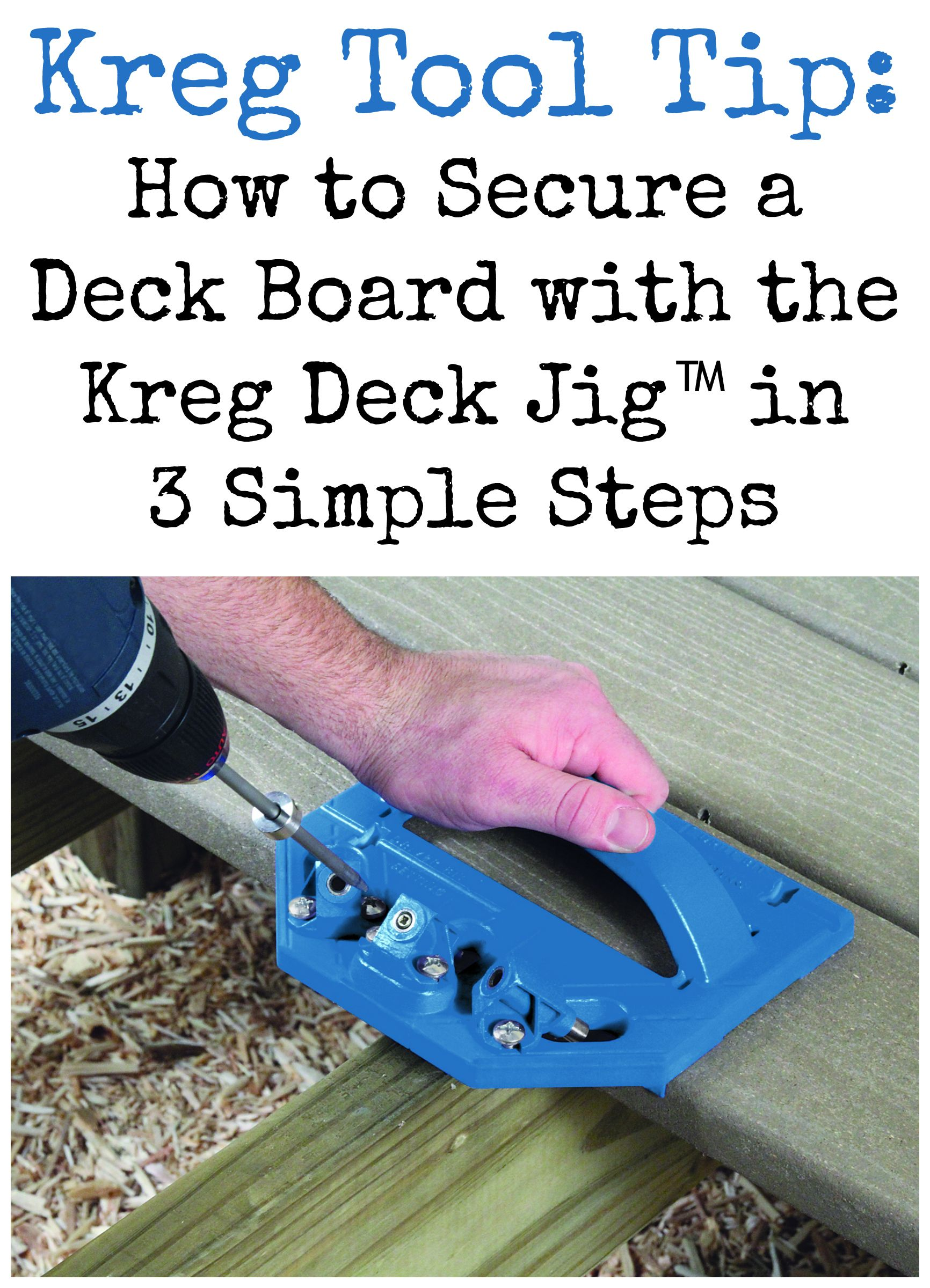 Kreg Tool Tip: How to Secure a Deck Board with Kreg Deck Jig™ in 3 Simple Steps | Watch this quick video to learn how.