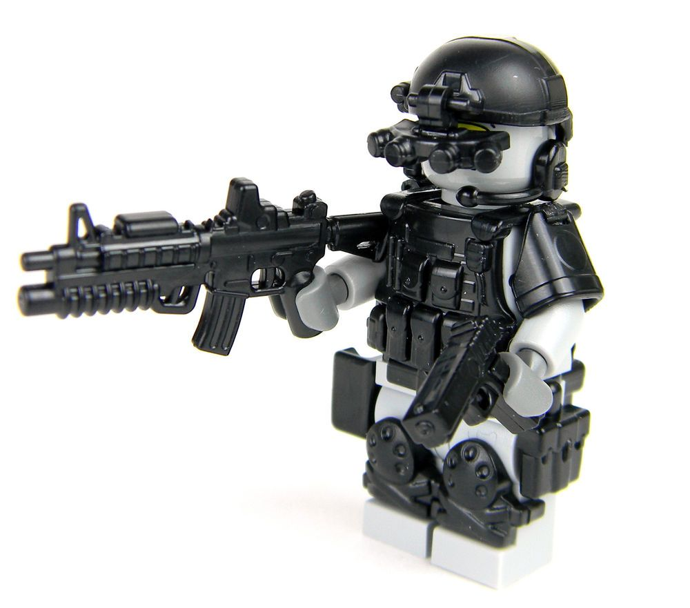 Lego New Black Minifigure Swat Team Police Vest Body Armor Special Forces
