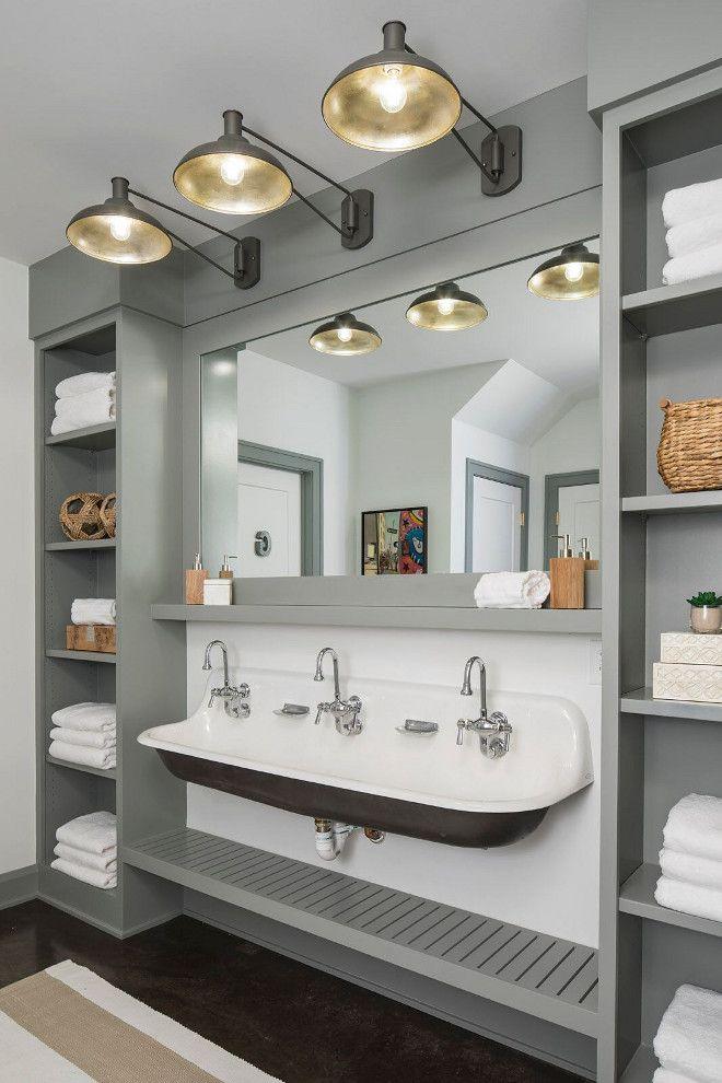 this farmhouse bathroom features 3 sconces bookclub swing arm rh pinterest com