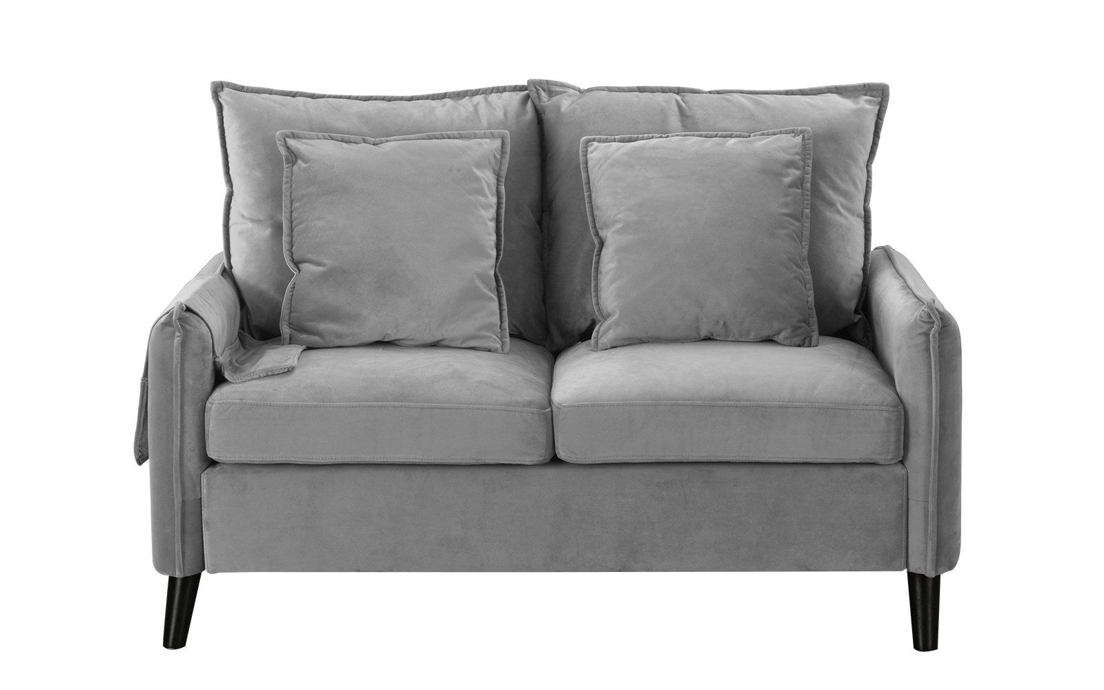binx retro brush microfiber upholstered loveseat products rh pinterest com
