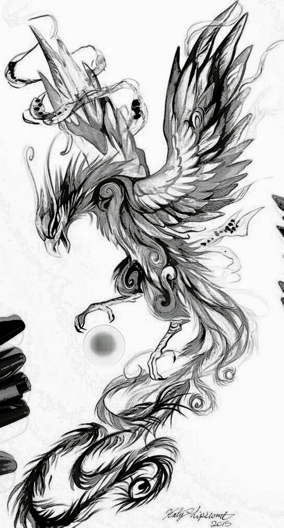 Phonix Skizze Phoenix Bird Tattoos Phoenix Tattoo Design Phoenix Tattoo Men