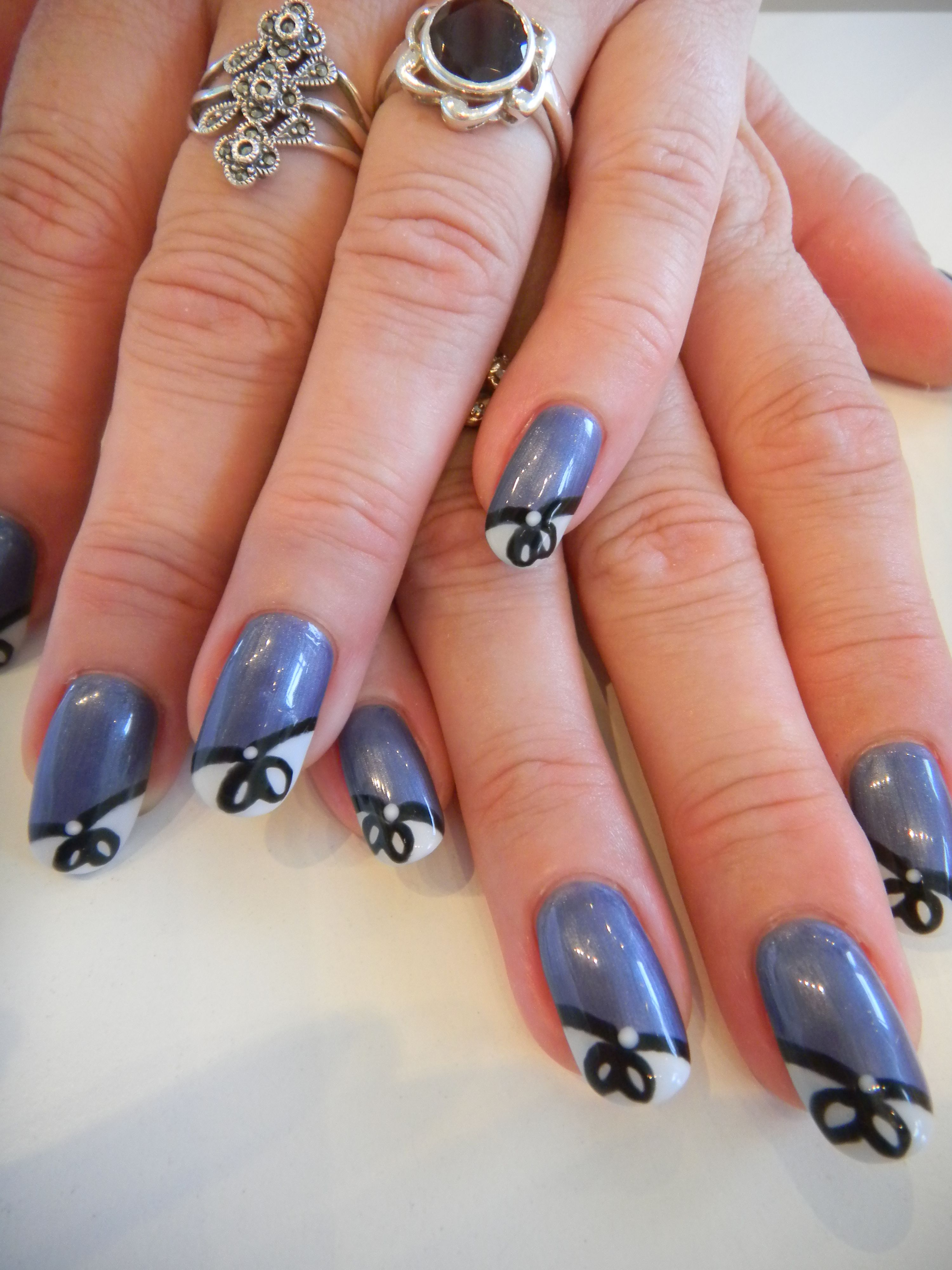Bio Sculpture Gel Nail Art Design Rose Gold French With