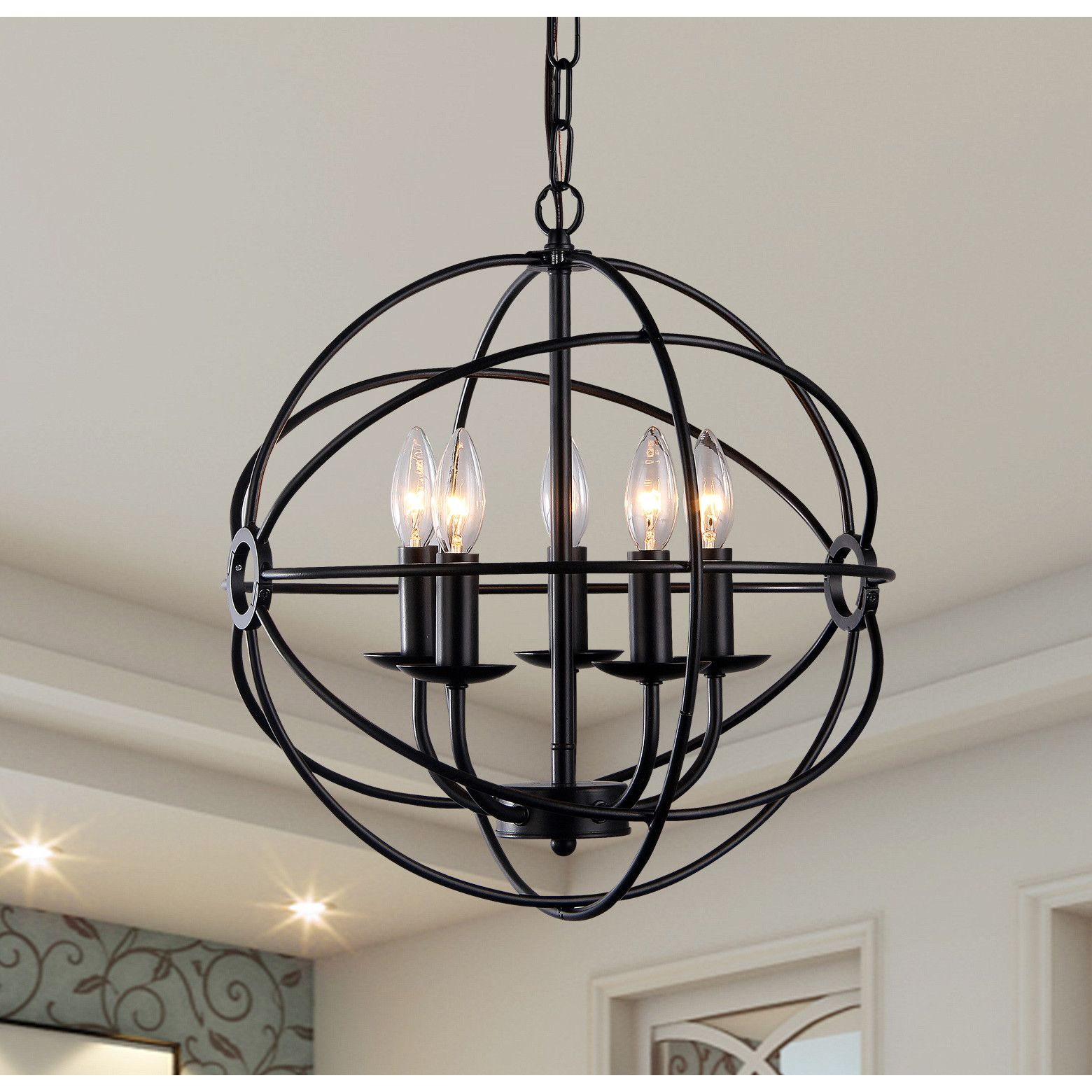warehouse of tiffany theo 5 light candle style chandelier entry rh pinterest com
