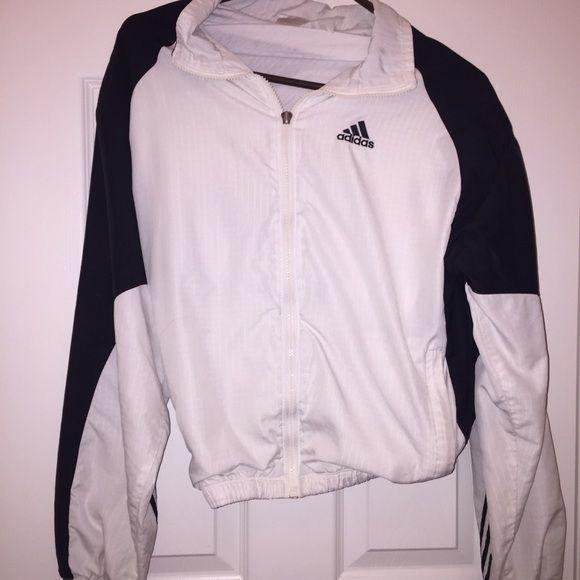 Adidas Windbreaker Vintage | zipper still works although missing pull tab Adidas Jackets & Coats
