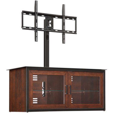 Whalen Brown Closed Door 3 In 1 Tv Stand For Tvs Up To 52 Craft