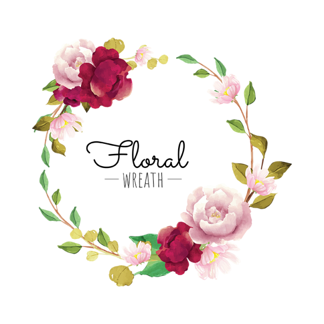 Flower Wreath Flower Wreath Burgundy Png And Vector With Transparent Background For Free Download 꽃 그래픽 디자인 꽃 프레임 꽃