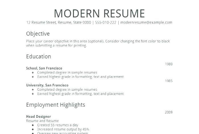 Basic Job Resume Examples Basic Job Resume Templates Easy