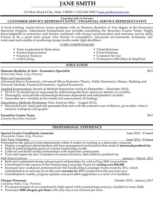 Customer Service Representative Resume Template Premium Resume - financial service representative sample resume