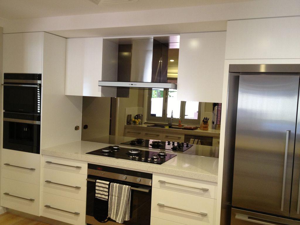 White Kitchen Mirror Splashback bronze mirror splashback - google search | mirror splashback