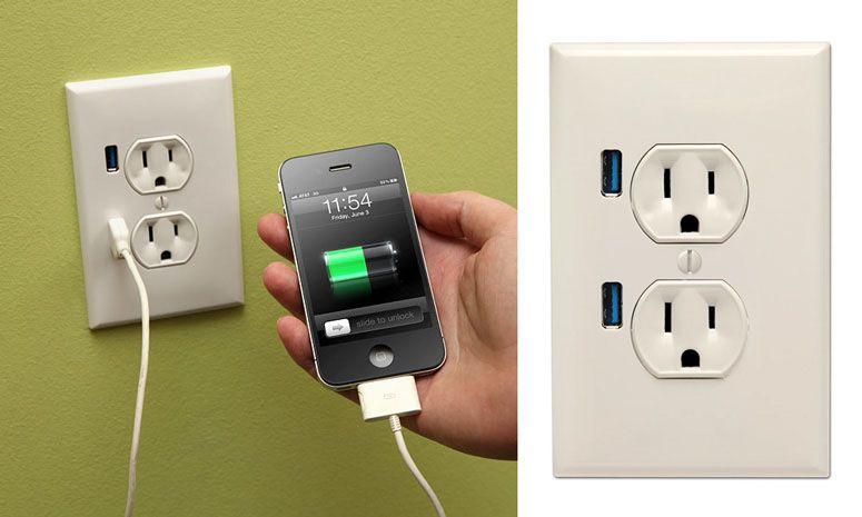 U Socket Usb Wallplug Wall Outlets Usb Iphone Gadgets