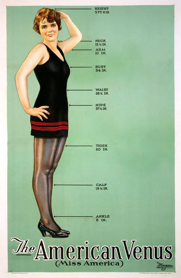 """""""The American Venus"""", c. 1920. 