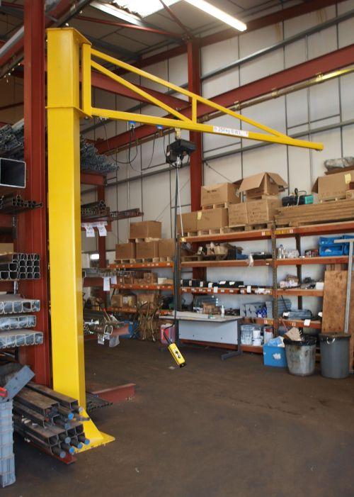 Niko Freestanding Jib Crane Tool Room Welding